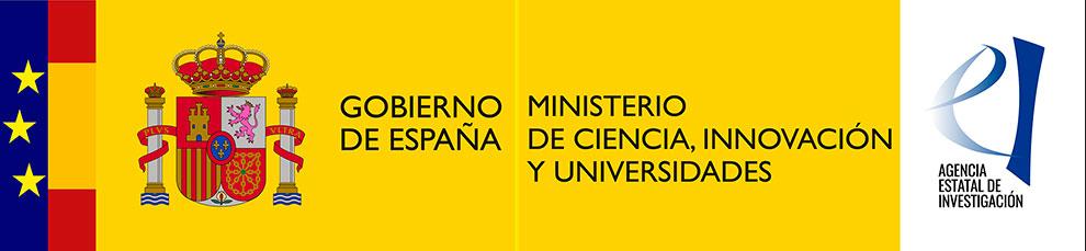 Logotipos del Ministerio de Ciencia, Innovación y Universidades de España y de la Agencia Estatal de Investigación