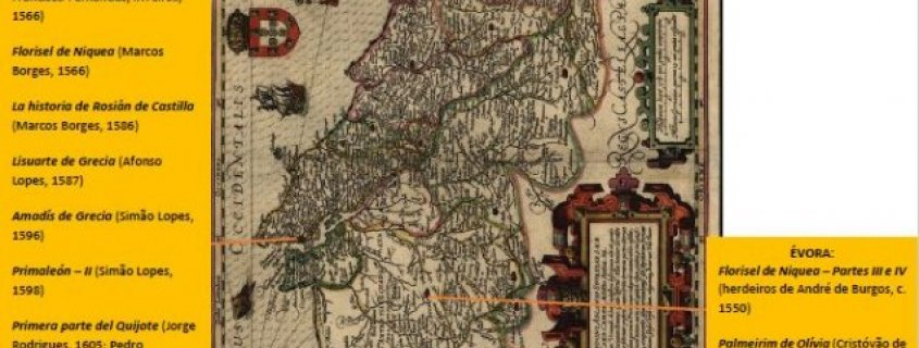 MAPA DE LIVROS DE CAVALARIAS CASTELHANOS IMPRESSOS EM PORTUGAL