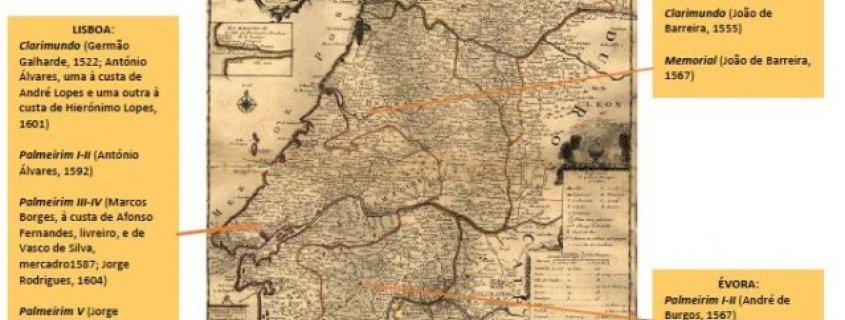 MAPA DE EDIÇÕES DE LIVROS DE CAVALARIAS PORTUGUESES